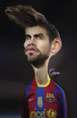 Cartoon: Pique (small) by Quidebie tagged pique,gerard,barcelona,karikatuur,caricature,fun,funny,shakira,soccer,football,spain,player