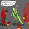 Cartoon: Gottesanbeterin (small) by KAYSN tagged gottesanbeterin,gott,hölle,teufel