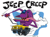 Cartoon: Jeep Creep cartoon character (small) by Coghill Cartooning tagged monster,creature,cartoon,character,design,vector,art,car,automobile