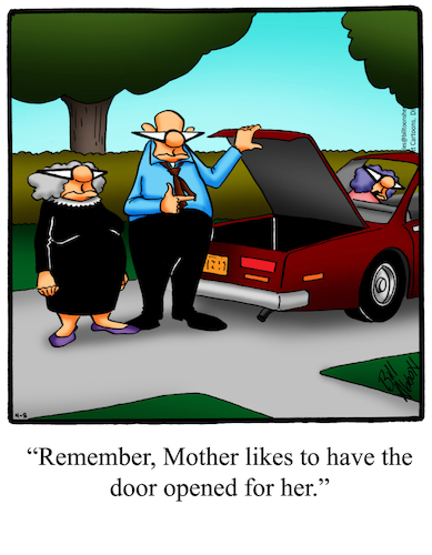 Cartoon: Mother In Law Trunk (medium) by Billcartoons tagged motherinlaw,family,husband,wife,marriage,romance,romantic,love