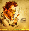Cartoon: Ajith Kumar (small) by bharatkv tagged ajith,kumar,thala,asal,kollywood,tamil,cinema,actor,caricature,cartoon,mankatha