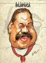 Cartoon: Mahinda Rajapaksa (small) by bharatkv tagged mahinda,rajapaksa,srilanka,president,leader,caricature,cartoon,lanka,lion,politics