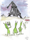 Cartoon: after War (small) by Mirek tagged tourism ufo paris