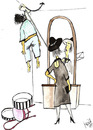 Cartoon: Fresh Widow (small) by Mirek tagged black,humor