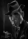 Cartoon: Bogart (small) by JMSartworks tagged caricature,actors,filmmakers,hollywood,paintool,sai,painter