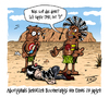 Cartoon: Wissenswertes (small) by Toeby tagged aboriginal australien boomerang emo emu outback wissenswertes toeby mark töbermann