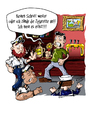 Cartoon: Selbstverteidigung ... (small) by Toeby tagged cartoon,hafenbar,kerze,matrose,schlägerei,toeby,mark,töbermann