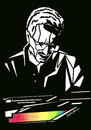 Cartoon: Keith Jarrett (small) by Atilla Atala tagged keith,jarrett,jazz,piano