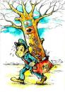Cartoon: postman (small) by Liviu tagged tree,postman,message,
