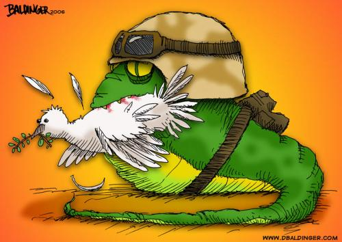 Cartoon: War (medium) by dbaldinger tagged war,peace,military,dove,