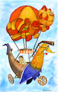 Cartoon: Fantasy (small) by dbaldinger tagged fantasy,balloon,fairytale,story,children,cat,dragon