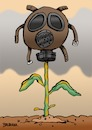 Cartoon: Gas Mask (small) by dbaldinger tagged environment,pollution,ecology