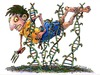 Cartoon: GMO Danger (small) by dbaldinger tagged gmo agriculture farming dna hazards