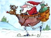 Cartoon: Merry Christmas (small) by dbaldinger tagged santa snow christmas sleigh robot winter presents skis