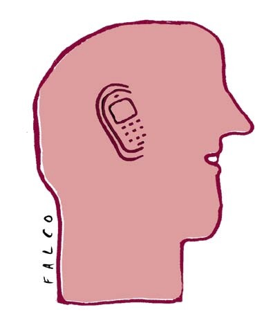 Cartoon: phoneman (medium) by alexfalcocartoons tagged phoneman