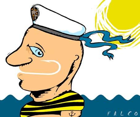 Cartoon: sailor (medium) by alexfalcocartoons tagged sailor
