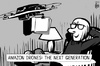 Cartoon: Amazon drone (small) by sinann tagged amazon,drone,next,generation,book
