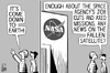 Cartoon: Fallen satellite (small) by sinann tagged nasa,satellite,fallen,down,earth