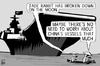Cartoon: Jade Rabbit breakdown (small) by sinann tagged jade,rabbit,china,moon,rover,breakdown,aircraft,carrier