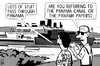 Cartoon: Panama Papers (small) by sinann tagged panama,papers,canal