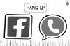 Cartoon: WhatsApp (small) by sinann tagged whatsapp,facebook