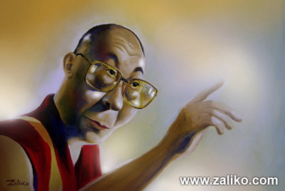 Cartoon: Dalailama (medium) by zaliko tagged dalailama