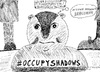 Cartoon: Occupy Groundhog Day (small) by laughzilla tagged punxatawney,phil,groundhog,day,occupy,shadows,ows,irony,satire,laughzilla,forecast,winter