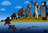 Cartoon: EVOLUTION (small) by MERT_GURKAN tagged human,evolution,police,caricature