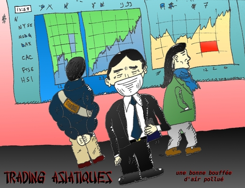 Cartoon: air du trading asiatique (medium) by BinaryOptions tagged options,binaires,option,binaire,trading,trader,tradez,marches,capitaux,optionsclick,news,infos,nouvells,actualites,caricature,comique,webcomic,masques,asie,asiatique,air,pollution,financier,boursier,bourses