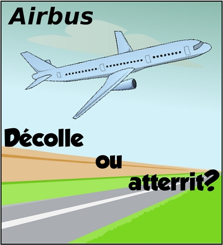 Cartoon: Airbus en hausse ou baisse? (medium) by BinaryOptions tagged optionsclick,tradez,trader,trading,binaries,options,binaire,option,airbus,comique,comic,webcomic,dessin,caricature,avion,hausse,baisse,direction,mouvement,trajectoire