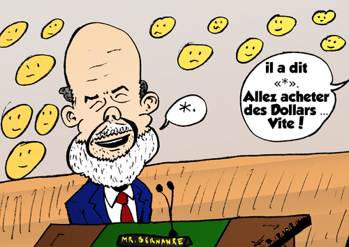 Cartoon: Ben Bernanke parler (medium) by BinaryOptions tagged bernanke,president,fed,politique,option,options,binaires,monetaires,federal,trade,investir,argent,optionsclick,caricature,nouvelles,affaires,politiques,economique,editorials,actualites,infos,news
