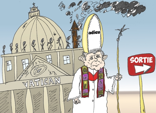 Cartoon: Benoit XVI quitte le Vatican (medium) by BinaryOptions tagged pape,benoit,vatican,quitte,option,binaire,options,binaires,optionsclick,caricature,dessin,comique,news,infos,nouvelles,actualites,editorial