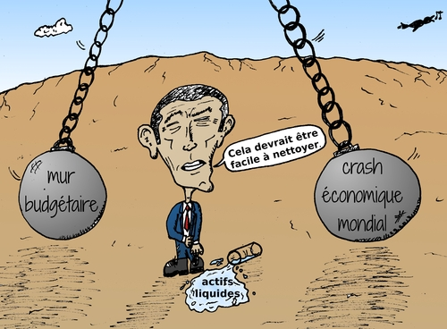 Cartoon: boulets de demolition economique (medium) by BinaryOptions tagged president,obama,economique,demolition,boules,liquidites,etats,unis,amerique,caricature,editoriale,entreprise,financiere,comique,dessin,anime,optionsclick,trader,options,binaires,negociation,option,nouvelles,infos,news,actualites,satire,commerce