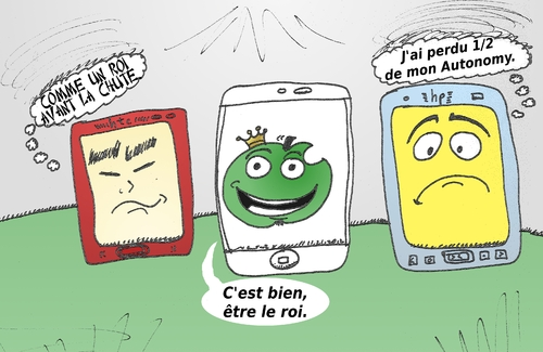 Cartoon: BD de smartphones HTC Aple hp (medium) by BinaryOptions tagged optionsclick,option,binaires,options,binaire,industrie,trader,tradez,trading,march,,financi,actualit,infos,news,nouvelles,anim,dessin,daffaires,,caricature,apple,hp,htc,smartphone,tech,technologie,mobile