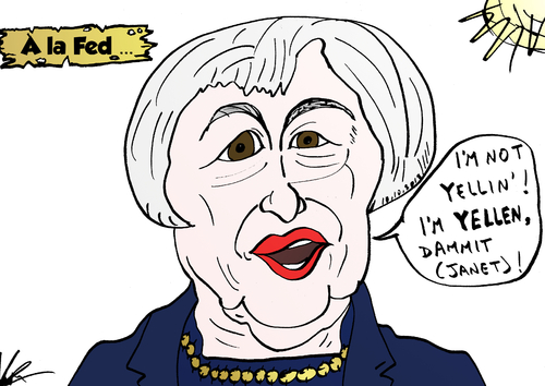 Cartoon: Janet YELLEN parodie comique (medium) by BinaryOptions tagged janet,yellen,chef,fed,president,candidat,presidente,reserve,federale,politique,monetaire,option,binaire,trader,options,binaires,investir,argent,financier,optionsclick,caricature,nouvelles,infos,news,actualites,affaires,politiques