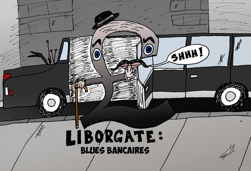 Cartoon: Liborgate le scandal du Libor (medium) by BinaryOptions tagged option,binaire,options,binaires,liborgate,libor,caricature,optionsclick,scandale,financier,boursier,trader,trading