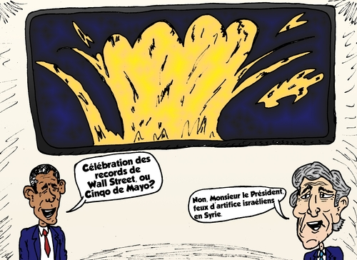 Cartoon: obama kerry caricature politique (medium) by BinaryOptions tagged options,binaires,option,binaire,optionsclick,trader,trading,news,infos,nouvelles,actualites,politique,caricature,comique,webcomic,moyen,orient,israel,syrie
