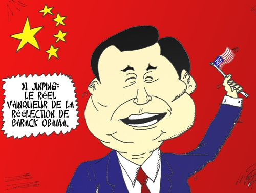 Cartoon: Xi Jinping en comique economique (medium) by BinaryOptions tagged xi,jinping,chinois,barack,obama,election,president,americain,caricature,editoriale,dessin,anime,comique,entreprise,optionsclick,trader,options,binaires,negociation,option,nouvelles,news,infos,actualites,nationales,commerce,satire