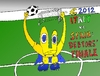 Cartoon: Euro 2012 Debtors Finale (small) by BinaryOptions tagged binary,option,options,trading,euro,uefa,football,2012,championship,final,italy,spain,satire,economy,business,caricature