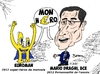 Cartoon: Euroman et Mario DRAGHI (small) by BinaryOptions tagged mario,draghi,euroman,bce,caricature,comique,editorial,finance,financier,banquier,euro,devise,forex,devises,trader,tradez,trading,binaire,binaires,option,options,optionsclick
