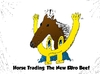 Cartoon: euroman horsemeat caricature (small) by BinaryOptions tagged binary,option,options,optionsclick,trade,trader,trading,horse,meat,beef,cow,euroman,caricature,cartoon,webcomic,news,financial,editorial,business,economic,romania,france,england,europe
