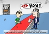 Cartoon: HSBC editorial cartoon (small) by BinaryOptions tagged binary,option,options,trader,trade,trading,hsbc,bank,loan,guarantee,honesty,optionsclick,satire,parody,lampoon,business,economic,financial,fiscal,investor,investing,client