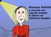 Cartoon: Marissa MAYER en caricature (small) by BinaryOptions tagged optionsclick,options,binaire,binaires,trading,trader,marissa,mayer,caricature,dessin,comique,portrait,google,yahoo,affaires,actif,actifs