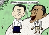 Cartoon: Obama and Xi editorial cartoon (small) by BinaryOptions tagged binary,option,options,trade,trader,trading,obama,jinping,caricature,optionsclick,news,editorial,comic,cartoon,webcomic,politics,politician,spying,government,diplomacy,economic,politic