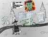 Cartoon: Post Frankenstorm Sandy Cleanup (small) by BinaryOptions tagged optionsclick,binary,option,options,trader,trading,trade,frankenstorm,new,york,city,monster,halloween,hurricane,sandy,storm,editorial,financial,business,news,cartoon,caricature,comic