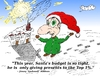 Cartoon: Santa Claus top 1 percent comic (small) by BinaryOptions tagged binary,options,option,trade,trader,trading,optionsclick,santa,claus,elf,top,christmas,gifts,caricature,cartoon,editorial,business,financial,economy,parody