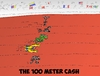 Cartoon: The 100 M Cash (small) by BinaryOptions tagged binary,option,options,trading,forex,trader,cartoon,caricature,currency,currencies,optionsclick,comic,satire,parody,footrace,spring,cash