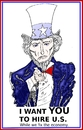 Cartoon: Uncle Sam caricature (small) by BinaryOptions tagged binary,options,trader,caricature,uncle,sam,trading,comic,cartoon,optionsclick,financial,editorial,business,economic,investor,jobs,creator,job