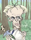 Cartoon: Klaus Kinski (small) by wambolt tagged film caricature genius crazy movies