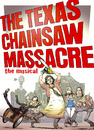 Cartoon: Texas Chainsaw Massace Musical (small) by wambolt tagged horror,film,music,theater,satire,entertainment,culture,family